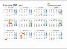 Feiertage 2019 Israel Kalender & Übersicht