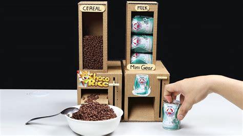 wow amazing diy cereal  milk dispensers  cardboard