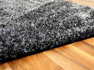 Shaggy Hochflor Teppich : hochflor shaggy teppich luxus feeling mix anthrazit teppiche hochflor langflor teppiche schwarz ~ Markanthonyermac.com Haus und Dekorationen
