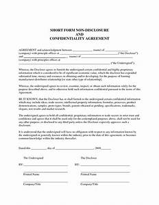 sample non disclosure agreement confidentiality With privacy contract template