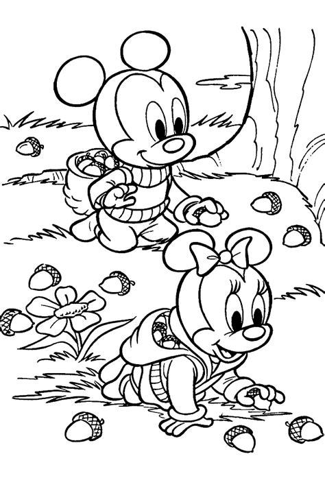 Coloriage Bébé Mickey Et Minnie à Imprimer Et Colorier