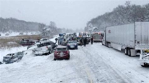 40-car Pile-up Caused By Winter White Conditions