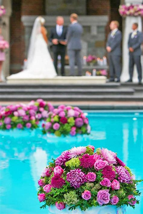 25 best ideas about backyard wedding pool on floating pool decorations pool