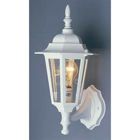 Walls Sconces - volume lighting 1 light white outdoor wall sconce white