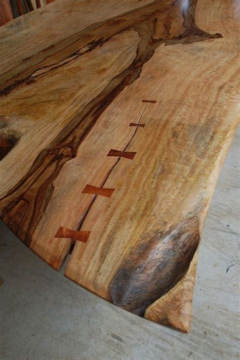 butterfly joints  gorgeous  edge table beautiful