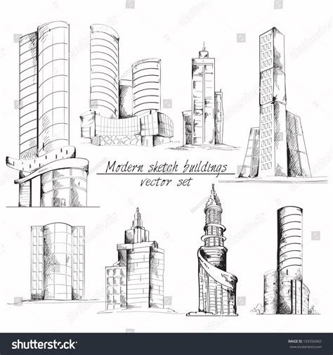 Modern 3d Urban Building Architectural Elements Stock