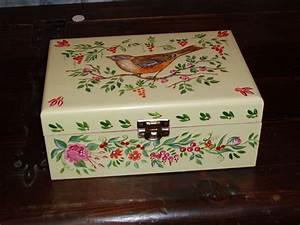 Boite à Tisane : boite tisane 3 photo de peinture sur bois nanouka and co ~ Teatrodelosmanantiales.com Idées de Décoration