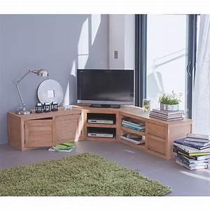 Meuble tele en angle 12 idees de decoration interieure for Deco cuisine pour meuble tv angle