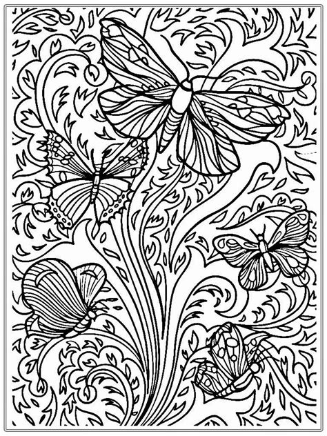 butterfly coloring pages  adults  coloring pages