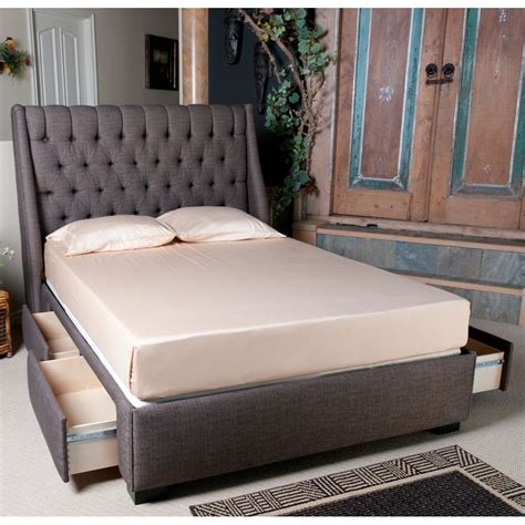 Upholstered Bed Frame With Storage by Diy Upholstered Storage Bed Diy Upholstered Headboard