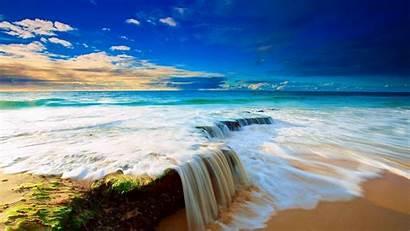 Summer Scenes Beach Ocean Wave Horizon Courtain