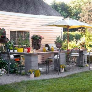 outdoor kitchen ideas on a budget how to repurpose concrete blocks awesome diy projects to try