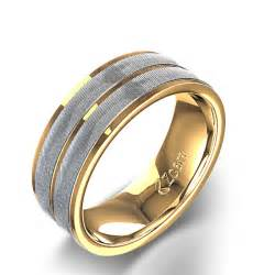 gold wedding rings mens channel 39 s wedding ring in 14k two tone gold