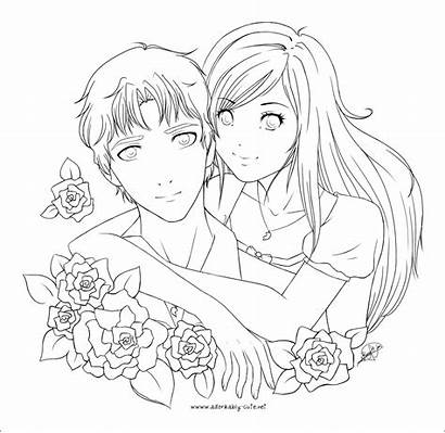 Lineart Boyfriend Coloring Pages Deviantart Drawings Anime