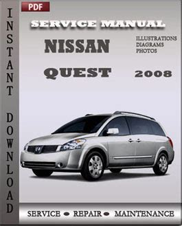 service and repair manuals 2008 nissan quest lane departure warning nissan quest 2008 service repair