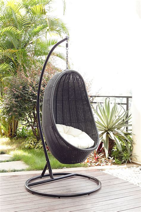 outdoor wicker swing chair home design inside