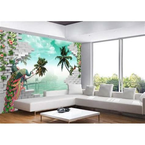 3d Wallpapers For Living Room In by Printed Paper Living Room 3d Wallpaper Rs 100 Square