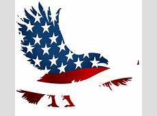 American Eagle Flag Transparent PNG Clip Art Image