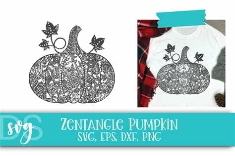 This design features a heart with a beautiful zentangle pattern inside. Zentangle, Pumpkin, Fall SVG, Thanksgiving, Halloween