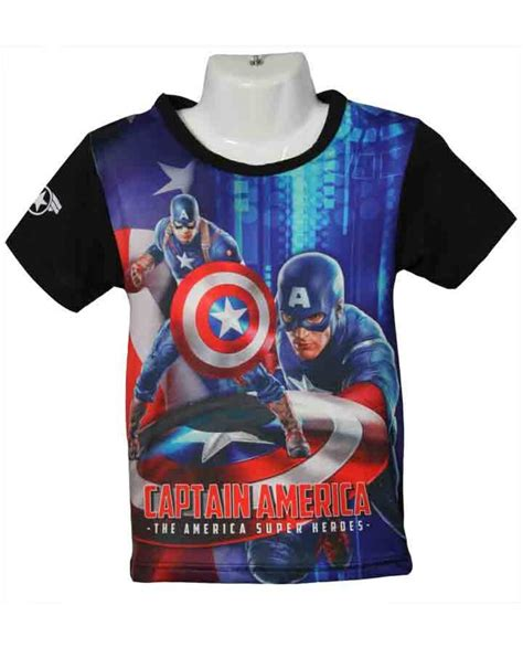 jual kaos anak printing captain america ag collection