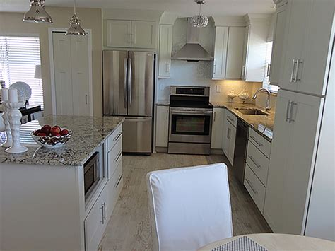 kitchen makeover melbourne shaker white painted cabinets florida kitchen photos 2265