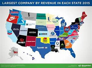 Largest Companies by Revenue in Each State 2015: MAP ...