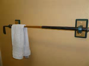 bathroom towel display ideas antique hickory shaft golf club towel rack