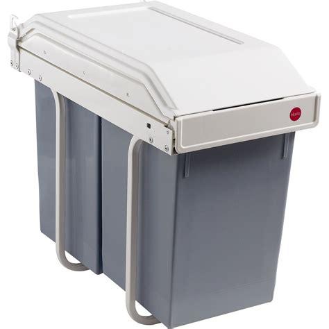 poubelle hailo cuisine poubelle de cuisine manuelle hailo plastique blanc crème