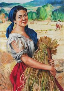Maiden with Palay Stalks (colored pencil) by Abrem008 on ...