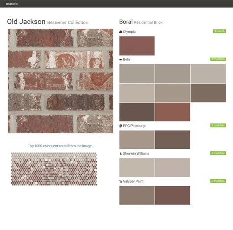 jackson bessemer collection residential brick boral behr olympic ppg paints sherwin