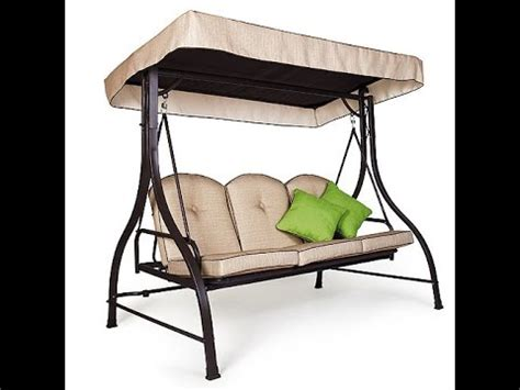 mainstays patio swing cushions seat support and canopy