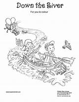 River Colouring Pages Down sketch template