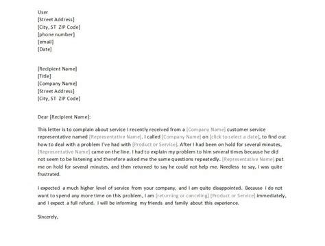 formal letter  complaint template formal complaint letter