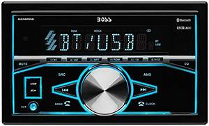 Boss Audio 820brgb Double Din  Bluetooth  Mp3  Usb  Sd Am  Fm Car Stereo  Wireless Remote  Multi