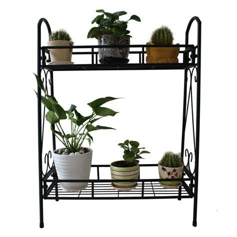 tier metal shelves indoor plant stand display flower