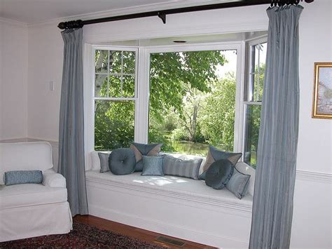 Bay Window Seat With Pillows, Panels And Chair Slipcover