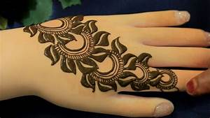 2017 Leafy Flower Henna Mehndi Designs For Hands:Easy ...