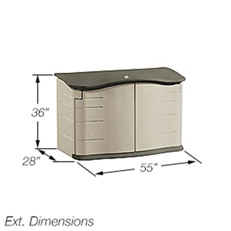 Rubbermaid Horizontal Storage Shed Assembly Rubbermaid 3748 Horizontal Storage Shed 18 Cubic Ft Patio Lawn Garden