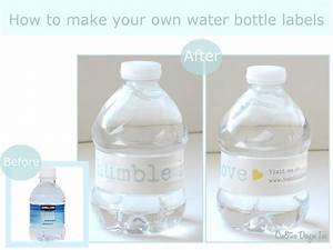 make your own water bottle labels linedup top label maker With how to make your own labels for bottles