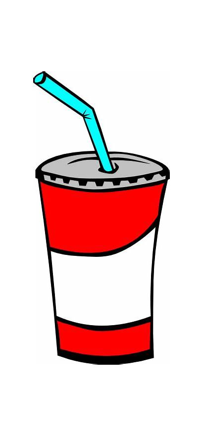 Drink Clip Cup Soft Soda Clipart Svg