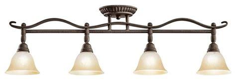 Bathroom Vanity Track Lighting - kichler pomeroy 4 light track lighting in distressed black