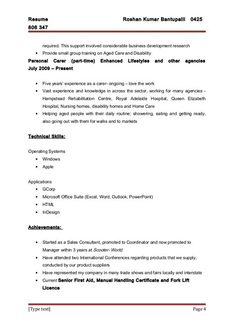 Aged Care Resume Summary by Aged Care Resumes Mygpsdesk