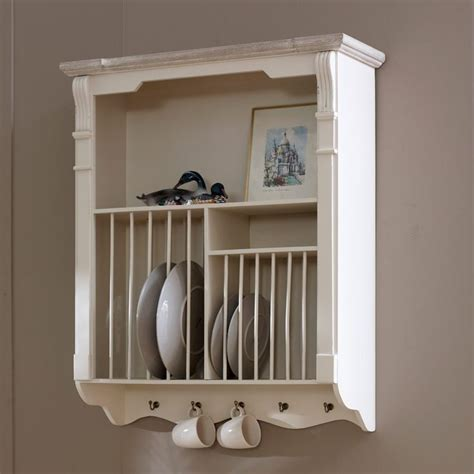 cream wall mounted plate rack lyon range  images wall mount plate rack plate racks