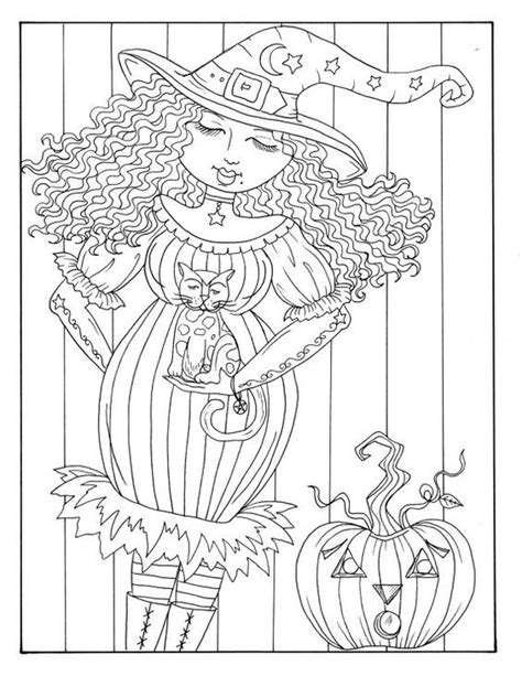 pin  susan bryant  witch coloring pages digi stamps