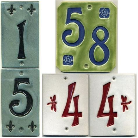 ceramic arts crafts house numbers
