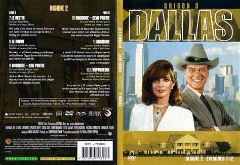 jaquette dvd de dallas saison 3 dvd 2 cin 233 ma