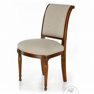 Chaise Tissu Beige : chaise ancienne bois et tissu beige directoire saulaie ~ Teatrodelosmanantiales.com Idées de Décoration