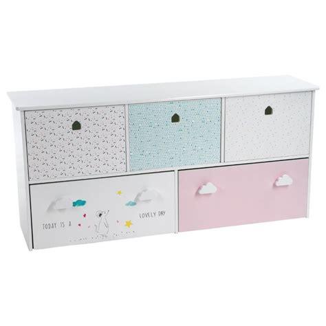 meuble de rangement enfant 5 tiroirs quot sweety quot 114cm multicolore