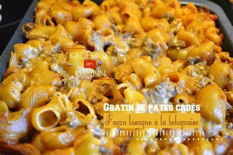 recettes avec des pates gratin de p 226 tes crues fa 231 on lasagne sauce 224 la bolognaise