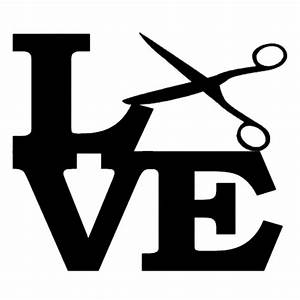 Scissors Love funny Car Sticker for Truck Window motorcycles Vinyl Decal Hairstylist Barber Hair